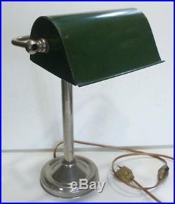 Ancienne LAMPE DE BUREAU en Métal ART DÉCO Années 1930