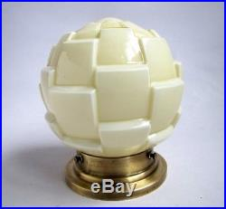 Ancienne Lampe Globe Art Déco en Verre 1930