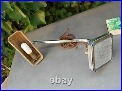 Ancienne lampe de bureau ART DECO en métal chromé articulée type pirouette