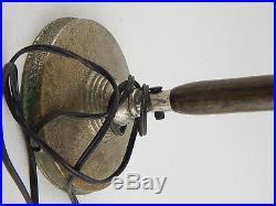 Antica Rara Lampada Tavolo Ministeriale Art Deco Antique Industrial Table Lamp