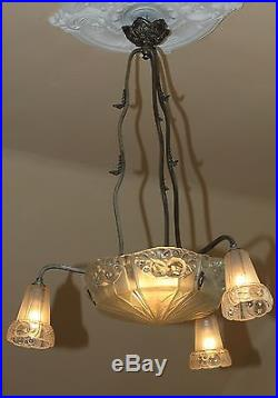 Antike original Art Deco Lampe aus Frankreich, J. Robert, um 1925