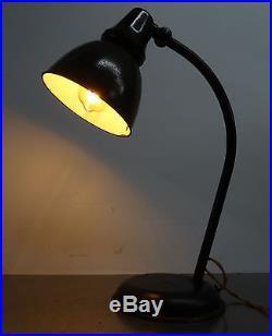 Antike originale Bauhaus Leuchte AEG Emaille Tischlampe Lampe Art Deco 1920er
