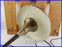 Antiquariato Autentica Art Deco Lampada Tavolo Fungo Table Lamp Metallo Ottonato