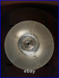 Antique 20s/30s Art Deco Bedroom/Hall Heavy Glass Ceiling Light/Lamp Fixture