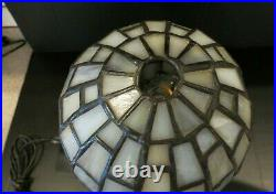 Antique ART DECO LADY LAMP Marble Base Electrified Candelabra Bulb Leaded Globe