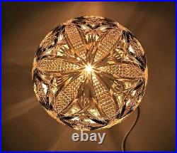 Antique Art Deco 1920s Large Cut Glass Table Lamp with'Mushroom' Shade