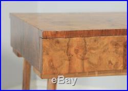 Antique Art Deco Burr Walnut Bedside Bedroom Occasional Side End Lamp Table
