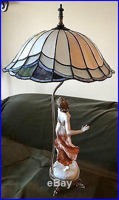 Antique Art Deco German Rosenthal Porcelain Figurine Lamp
