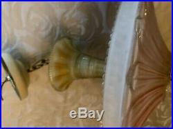 Antique Art Deco Sunflower Ceiling Light Lamp Fixture Chandelier Restored 14.5