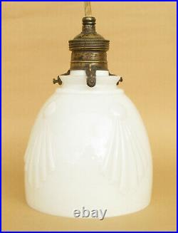 Antique Art Deco White Glass Decorative Ceiling Hanging Lamp Light Pendant Light
