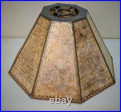 Antique Arts & Crafts, Art Deco Mission Uno Mica Lamp Shade