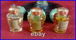 Antique French Art-deco Corday Paris Lamp Post Perfume Bottles Holder
