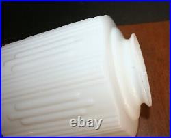 Antique MILK GLASS Ceiling Fixture Light Lamp Shade 9 Art Deco 4 Fitter