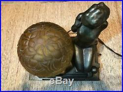 Antique Original & Signed Frankart, Art Deco Figural Lamp Model L271