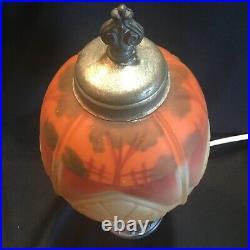Antique Reverse Painted Art Deco Boudoir Lamp Pittsburgh or