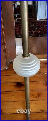Antique Vintage Art Deco Bridge, Floor Lamp, Original Gorgeous Antique Shade
