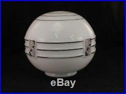 Antique c1930 Art Deco Ceiling LampLightGlass Globe Shade3.5 FitterVGC