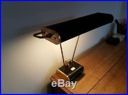 Antique vintage 1930s Eileen Gray Jumo art deco lamp grey/green and chrome
