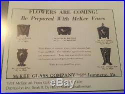 Art Deco 1930's Vintage McKee Jadite / Jadeite / Jade-ite Nude Lamp 3 Sided