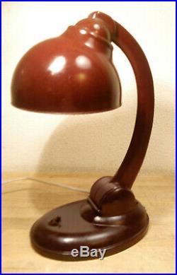 Art Deco Ancienne Grande Lampe De Table Bakelite Dell Bauhaus 11126 Bordeaux