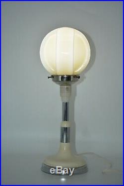Art Deco Aust 1930's Bakelite & Chrome Electric Working Lamp Uranium Glass Shade