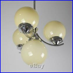 Art Deco Bauhaus Deckenlampe Chrom