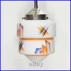 Art Deco Bauhaus Skyscraper Ceiling Light Lamp Airbrush Spritzdekor Suprematism