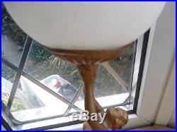 Art Deco Bronze On Spelter Nude Lady Lamp