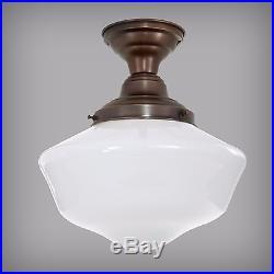 Art Deco Ceiling Lamp Antique Schoolhouse Pendant Light Fixture