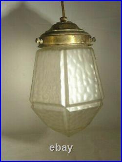 Art Deco Decken-Lampe mit alter Fassung, neu elektrifiziert