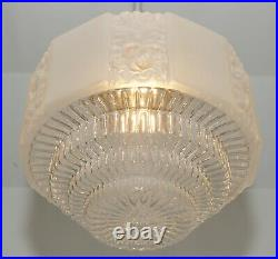 Art Deco Deckenlampe 1920 Skyscraper Pendant Light Art Nouveau Glass Antik