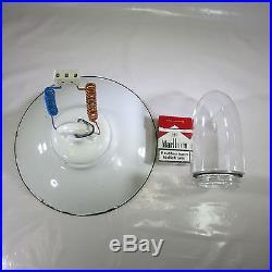 Art Deco Deckenlampe Emaille Lampe Glaskolbenlampe Industrielampe Bauhaus Lampe