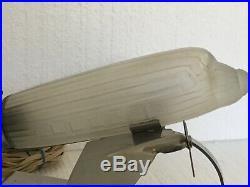 Art Deco Design DC-3 Airplane Desk Light Lamp Chrome Glass Sarsaparilla NYC VTG