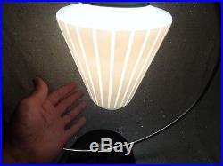 Art Deco Diana Era Chrome Ring Lamp with UFO Glass Shade
