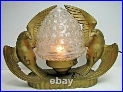 Art Deco Double Eagle Lamp Frankart Nuart Era Decorative Arts Figural Light