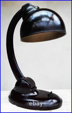 Art Deco E. K Cole Bauhaus Grande Lampe Bakelite Bordeaux Typ 1126