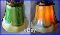 Art Deco Era Student/Library Lamp-Rare Stepped Uranium Slag Glass Base & Body- A