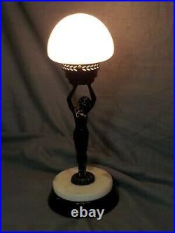 Art Deco Frankart / Sarsaparilla Style Silhouette Nude Lady Lamp