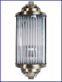Art Deco Glass Rod Wall Light Bauhaus Lamp Antique Wall Metal & Glass