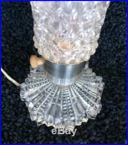Art Deco Glass Torpedo Skyscraper Bullet Lamp Boudoir Matching Pair