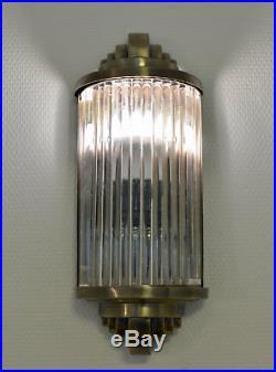Art Deco Glasstäbchen Wandleuchte Bauhaus Lampe Wandlampe Antik Stil Metall neu