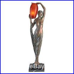Art Deco Goddess Of Light Sculptural Table Lamp