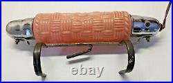 Art Deco Headboard Lamp with Matching Night Table Torpedo Lamps Pink WORKING
