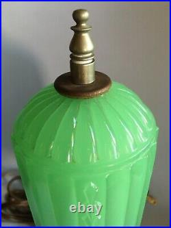 Art Deco Houze Glass Boudoir Lamp