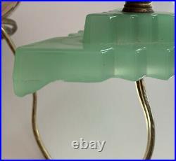 Art Deco Jadeite & Bakelite Candlestick Lamp Butterscotch