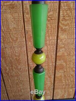 Art Deco Jadeite Floor Lamp-Nude BaseJadeite Green TouchiereFREE SHIPPING