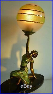 Art Deco Lady Lamp