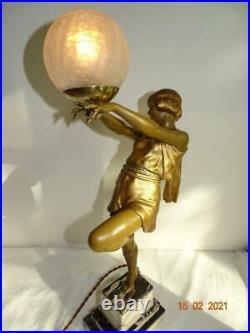 Art Deco Lady Lamp By Carlier