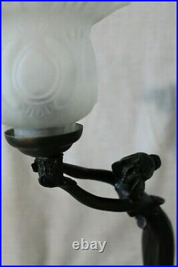Art Deco Lady lamp imported England Glass shade