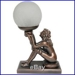 Art Deco Lamp Art Deco Lamp Bronze Look Table Lamp Lady Holding